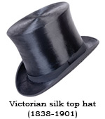 Victorian silk top hat